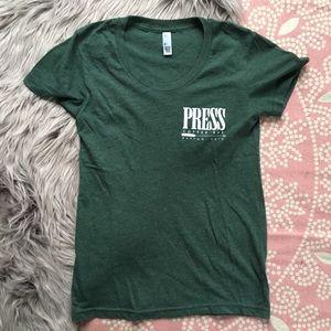 Press coffee bar scoop T-shirt Dayton Ohio
